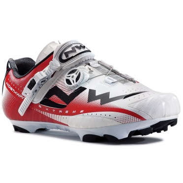 Northwave Extreme tech MTB mountainbikeschoen wit/rood heren