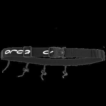 Orca Startnummerband met energie gel vakjes zwart