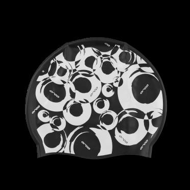 Orca Siliconen badmuts swim cap zwart print