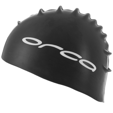 Orca Siliconen badmuts swim cap zwart