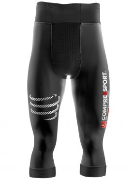 Compressport Pirate 3/4 compressie broek zwart