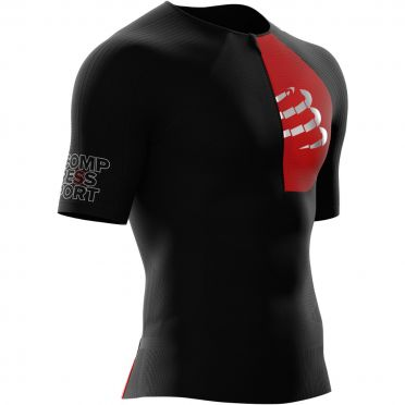 Compressport Postural Aero korte mouw compressie tri top zwart heren