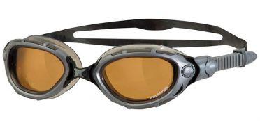 Zoggs Predator flex polarized ultra zwembril zilver