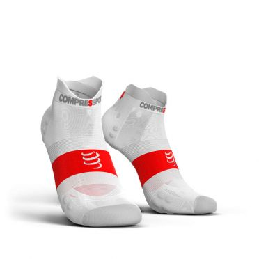 Compressport Pro Racing V3.0 ultralight lage hardloopsokken wit