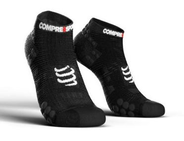 Compressport Pro racing v3.0 lage hardloopsokken zwart