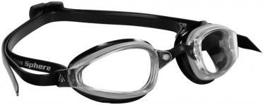 Aqua Sphere K180 Zwembril transparante lens zilver/zwart