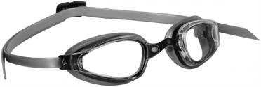 Aqua Sphere K180+ Zwembril transparante lens zwart/zilver