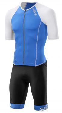 Sailfish Aerosuit comp trisuit korte mouw blauw/wit heren