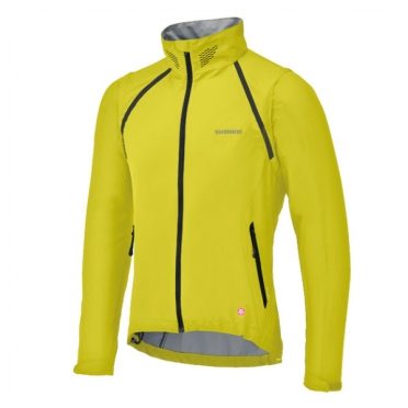 Shimano compact zip-off windstopper jack yellow