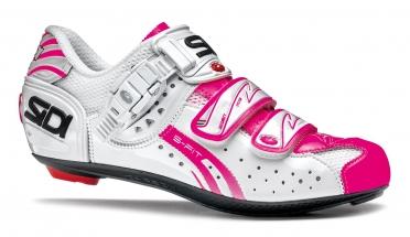 Sidi genius 5 fit carbon vernice raceschoen lucido/wit/roze-fluo dames