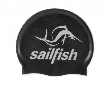Sailfish Siliconen swimcap zwart