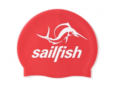 Sailfish Siliconen swimcap rood