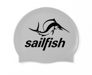 Sailfish Siliconen swimcap zilver