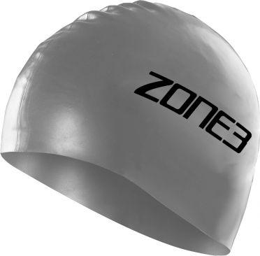 Zone3 Silicone swim cap zilver