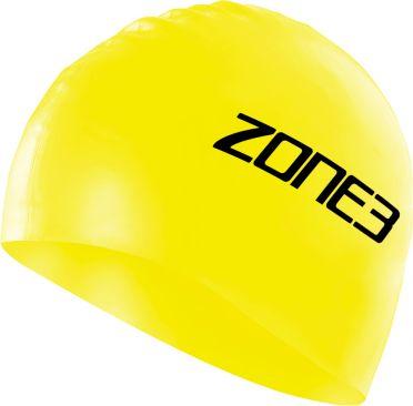 Zone3 Silicone swim cap geel
