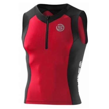 Skins TRI400 Compression Top Sleeveless heren zwart/rood