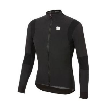 Sportful Aqua Pro fietsjas lange mouw zwart heren
