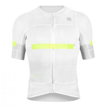 Sportful Evo fietsshirt korte mouwen wit heren