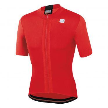 Sportful Strike fietsshirt korte mouwen rood heren