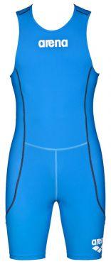 Arena ST rear zip mouwloos trisuit blauw heren