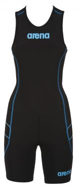Arena ST rear zip mouwloos trisuit zwart dames