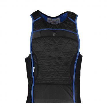 TechNiche KewlShirt evaporative cooling tank top zwart/blauw