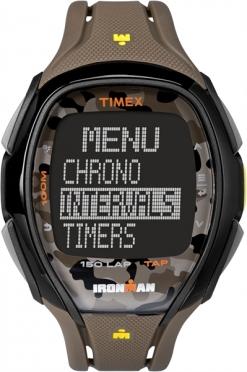 Timex Sleek 150 sporthorloge camo bruin 46mm