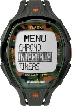 Timex Sleek 150 sporthorloge Camo oranje 46mm