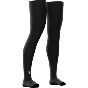 Compressport Total full leg Compressiekousen zwart