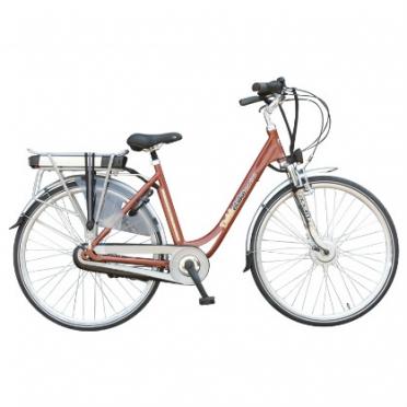 Dutchebike elektrische damesfiets touring oranje koper