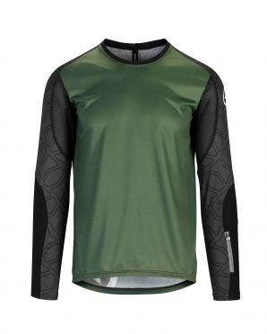 Assos Trail LS fietsshirt groen heren