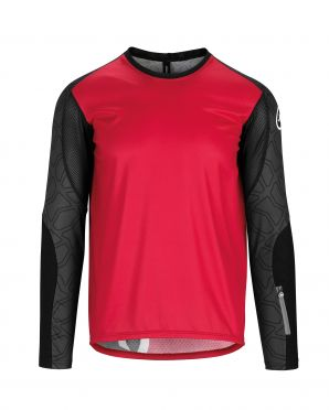 Assos Trail LS fietsshirt rood heren