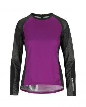 Assos Trail LS fietsshirt paars dames