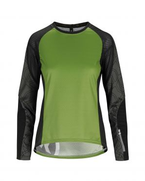 Assos Trail LS fietsshirt groen dames
