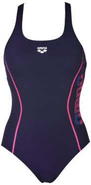 Arena Resistor badpak blauw/roze dames