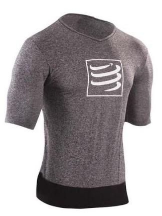 Compressport Training t-shirt grijs heren
