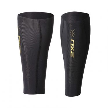 2XU Elite MCS Compression calf guard zwart/goud
