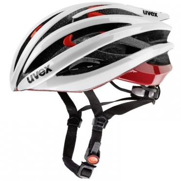 Uvex Race 3 Fietshelm wit/rood
