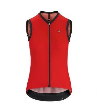 Assos UMA GT NS mouwloos fietsshirt rood dames