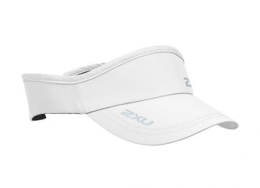 2XU Run Visor zonneklep wit