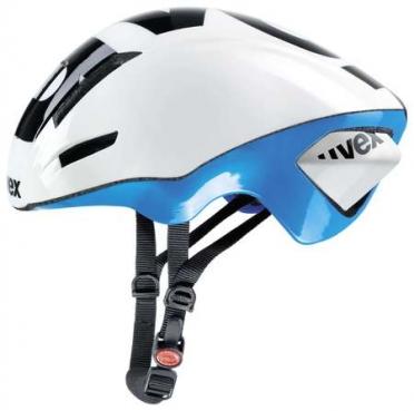 Uvex Edaero Race Fietshelm wit/blauw
