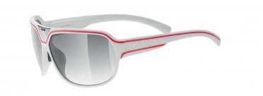 Uvex Oversize 24 Sportbril wit-mat/rood