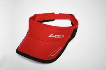 Zone3 Coolmax Race visor rood/zwart