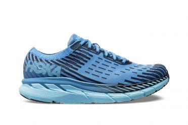 Hoka One One Clifton 5 Knit hardloopschoenen blauw/paars dames