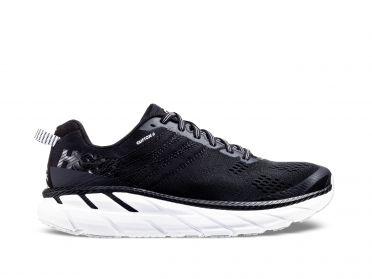 Hoka One One Clifton 6 hardloopschoenen zwart/wit dames