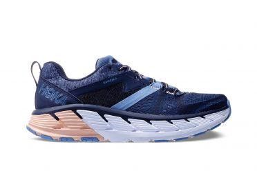 Hoka One One Gaviota 2 wide hardloopschoenen blauw/roze dames