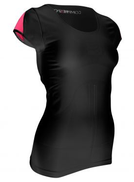 Compressport Trail running shirt v2 compressieshirt zwart dames