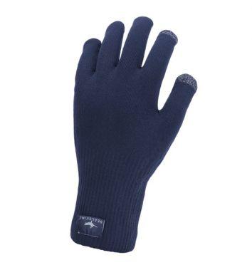 SealSkinz Ultra grip knitted fietshandschoenen blauw