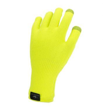 SealSkinz Ultra grip knitted fietshandschoenen neon geel