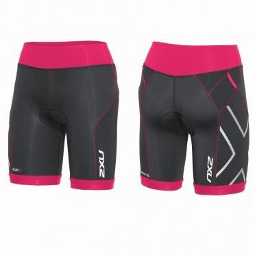 2XU Compression Tri short zwart/roze dames